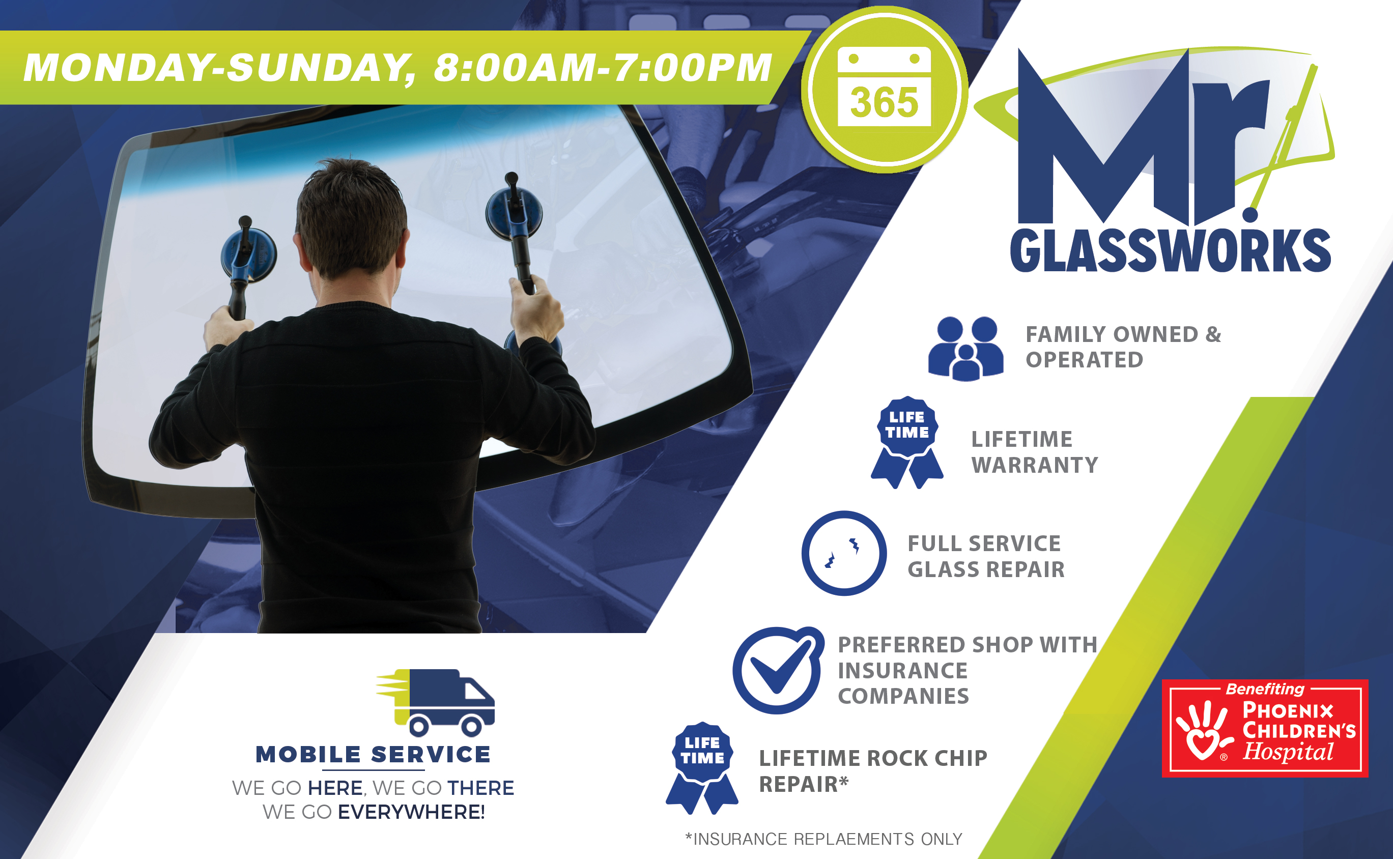 Mr. Glassworks Windshield Replacement Header