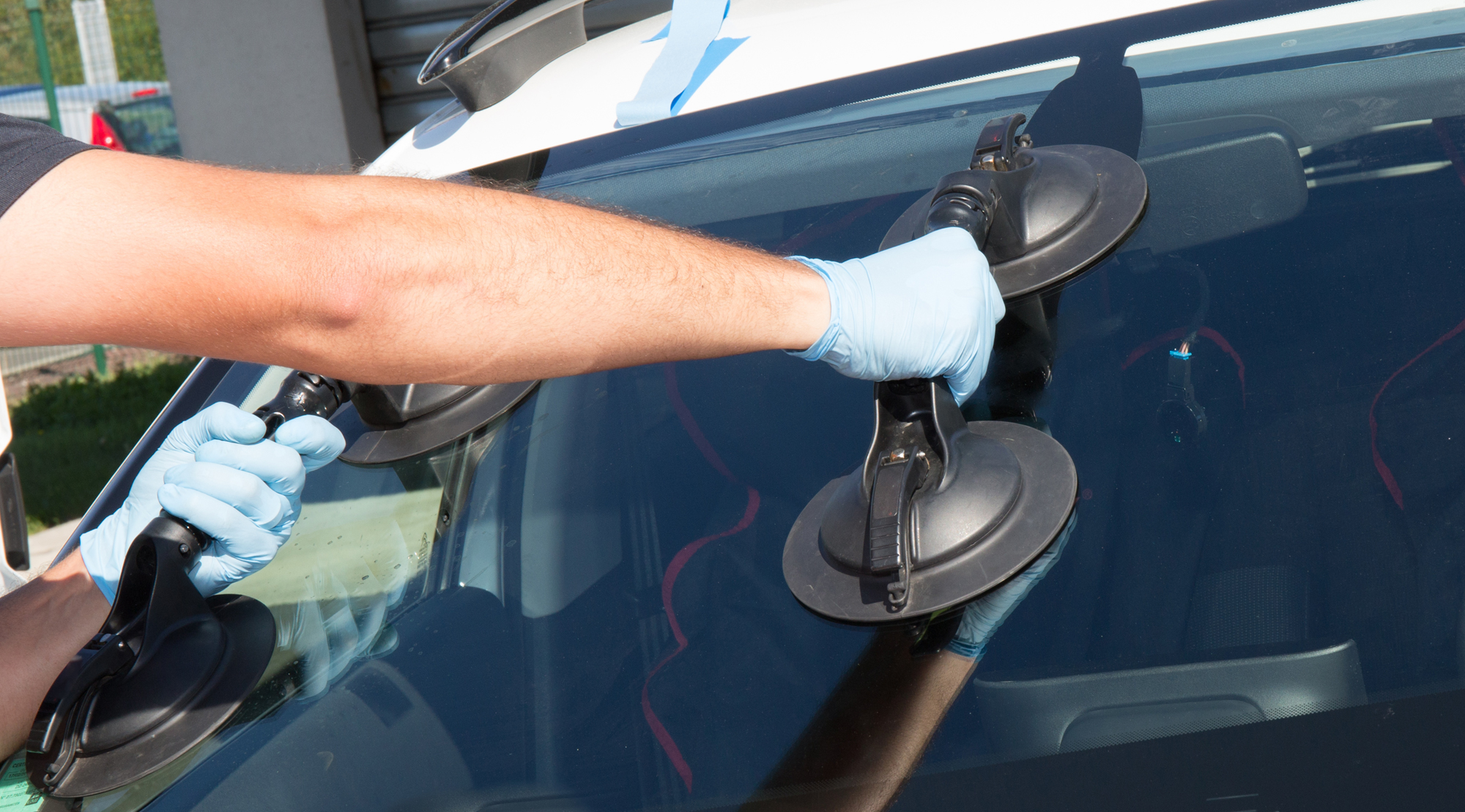Windshield Replacement Installation on Car in Paradise Valley AZ