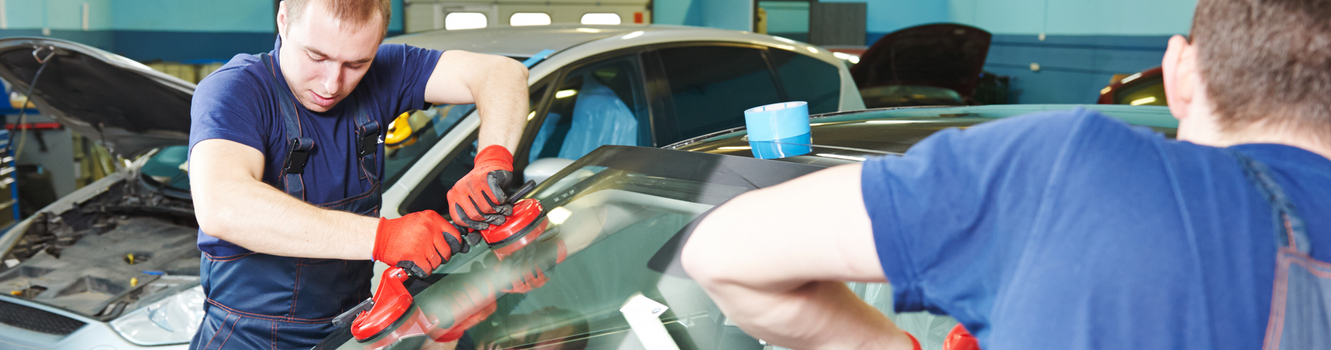 Westminster Auto Glass Techs Repairing Windshield